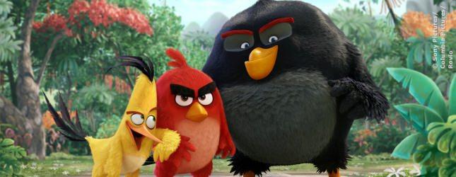 Die Vogel-Crew aus dem Kinofilm Angry Birds. In 3D und animiert noch niedlicher als im Handy-Spiel.