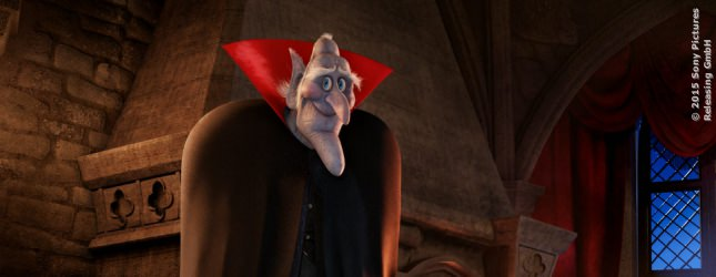 Vlad, der Opa von Mavis, taucht zum ersten Mal auf und hat von den Designern ein Gesicht in Sarg-Form verpasst bekommen. Ausserdem hat er 150 Kumpanen in seinem Schloss, die ihm helfen. Es sind keine Minions :-)