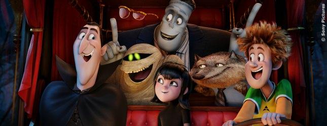 Drakula, Frank, Wayne, Dennis und Griffin der Unsichtbare in Hotel Transsilvanien 2.