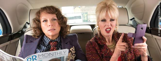 Jennifer Saunders und Joanna Lumley in Absolutely Fabulous