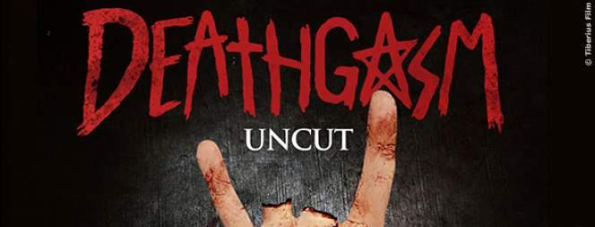 Das Plakat zeigt alles: Blut, Zombies, Metal. Alles drin im Film Deathgasm.