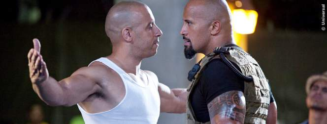 Vin Diesel und Dwayne Johnson in Fast Five