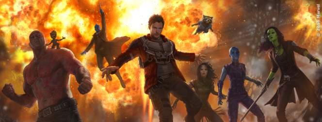 Die Helden aus Guardians Of The Galaxy 2