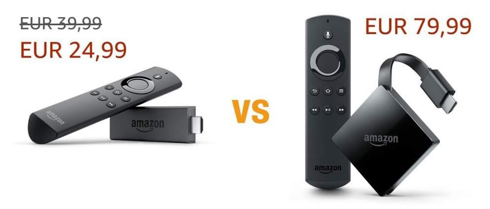 Vergleich: Fire TV Stick 2 oder 4K Fire TV 3