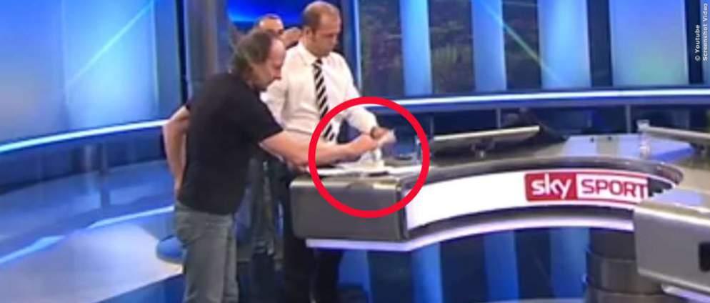 Sky-Moderator zu faul zum Kaffee umrühren